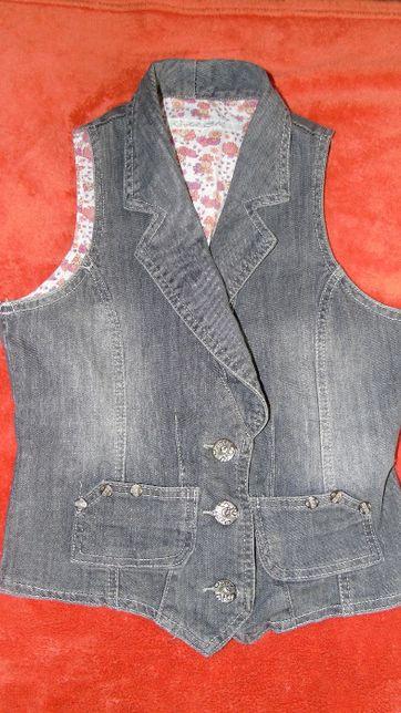 jeansowa kamizelka S