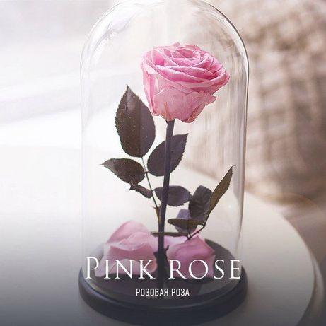 Роза в стеклянной колбе +( Коробка,Гравировка) .Тренд 2020 года