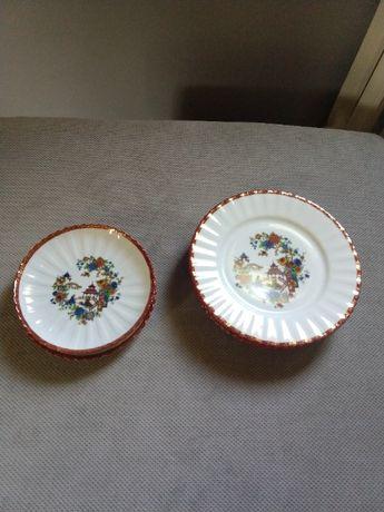 Chińska porcelana - talerzyki 3 + 4