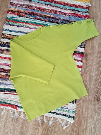 Limonkowa bluzeczka bluzka z przyjemnej dzianiny rozmiar S/M