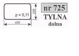 szyba Tylna maszyny Pronar 82A, 82SA, 82TSA, 1025A, 1221A ACX392