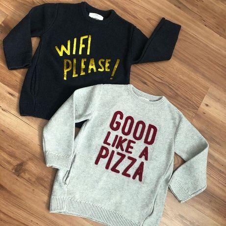 Sweter bluza 170 Zara dla chłopca z kieszeniami