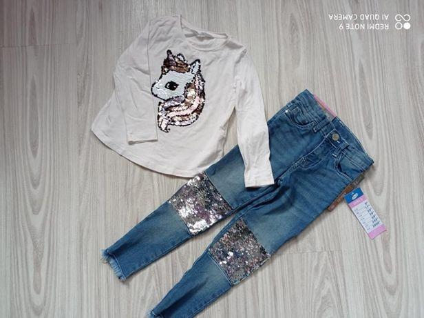 Ubranka dla dziewczynki rozmiar 86-104 hm next Zara reserved