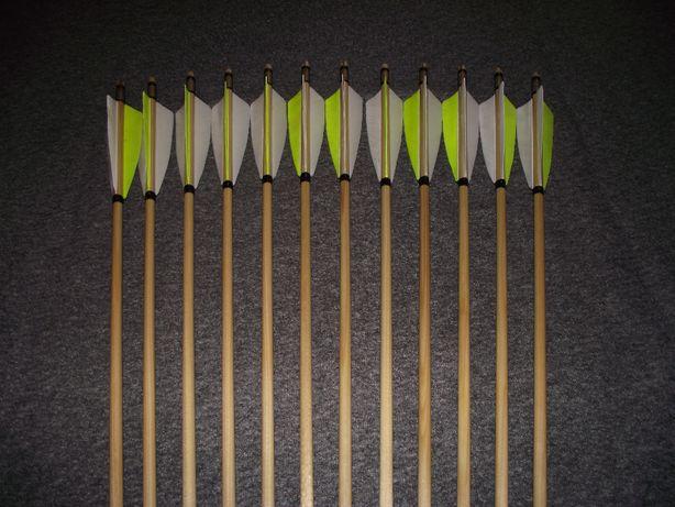 51-55 świerk nr 520 Komplet strzał do łuku strzały strzała drewniana