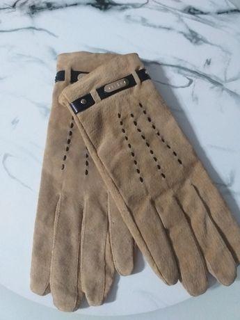 Rękawiczki  skóra zamszowa  Mohito