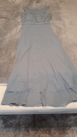 Długa sukienka Taranko 36r szara