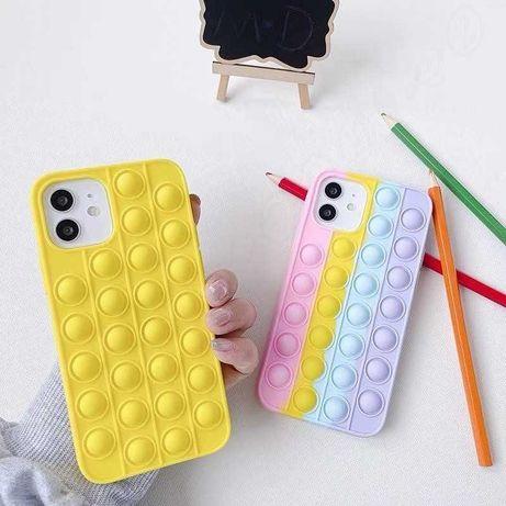Чехол на IPhone разноцветный в стиле pop-it чехол антистресс скидка