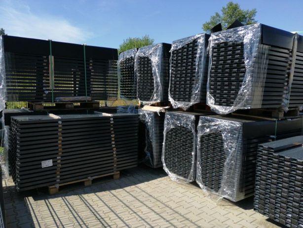 Słupki 60x40 i inne do paneli ogrodzeniowych, systemowych, RAL 7016