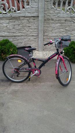 Rower B'Twin Poply 500 dla dziewczynki