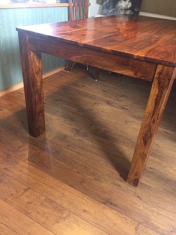 Zestaw stol i 8 krzesel- drewno egzotyczne.
