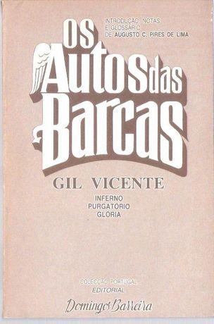 """Livro """"Os Autos das Barcas"""" Gil Vicente"""