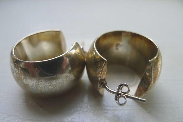 Eleganckie kolczyki srebrne 925