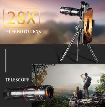 телескоп с 28 кратным зумом для смартфона- стильный подарок.
