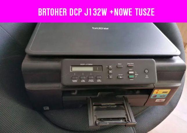 BROTHER DCP J132W drukarka dcp-j132w +nowy zestaw tuszy KRAKÓW wifi