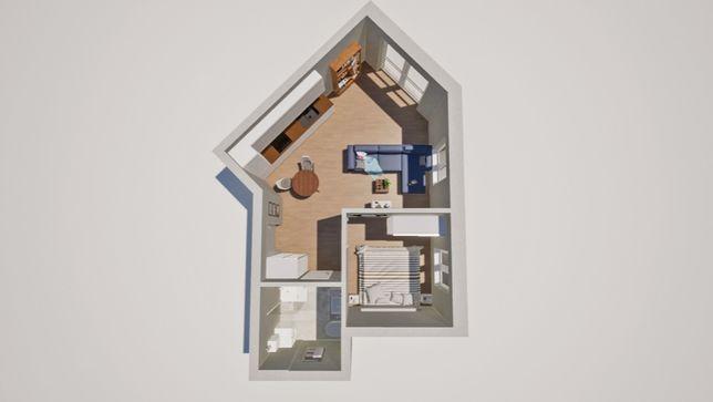 Mieszkanie 40mkw