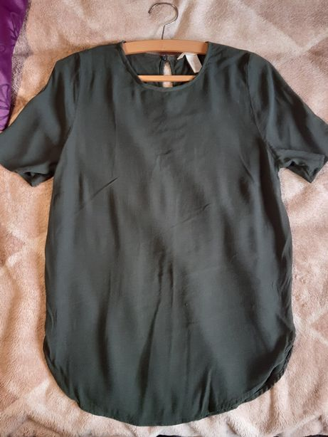 Bluzka butelkowa zieleń H&M