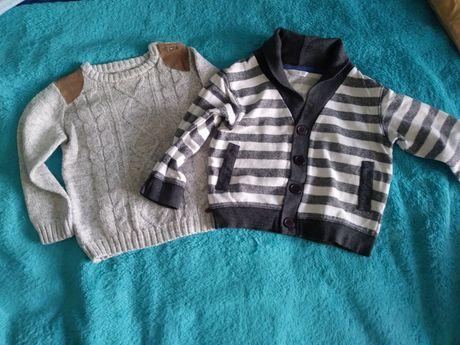 Sweterki dla chłopca roz 86