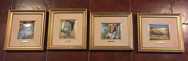Coleção de Obras (réplicas) dos Mestres do Impressionismo - 4 quadros