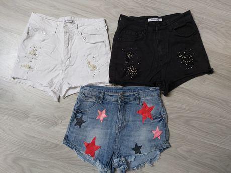 Krótkie spodenki jeans S