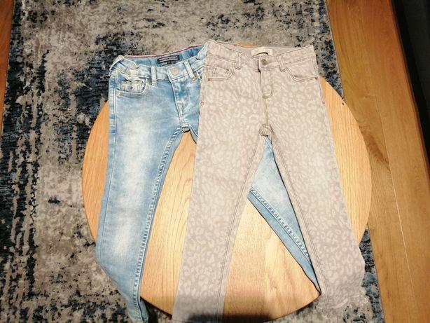 Spodnie jeansy Tommy Hilfiger + Zara baby 104