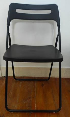 Cadeiras dobráveis pretas IKEA