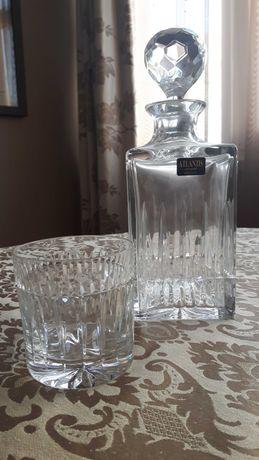Garrafa e copo de cristal Atlantis