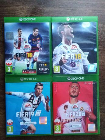 Zestaw gier Xbox One FIFA 16, FIFA 18, FIFA 19, FIFA 20