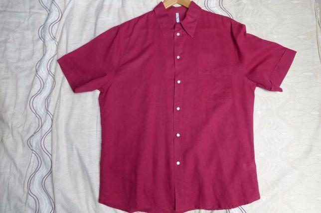 Летняя рубашка, лен, XL