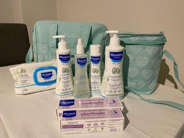 Mala maternidade e produtos Mustela