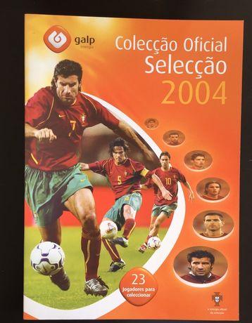 Caderneta Coleção Oficial Portugal Cromos Euro 2004 - Completa