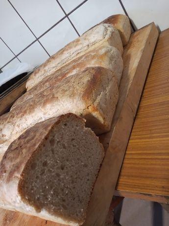 Chleb wiejski domowy z pieca