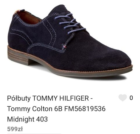 Tommy Hilfiger skórzane buty półbuty mokasyny męskie eleganckie 40 TH