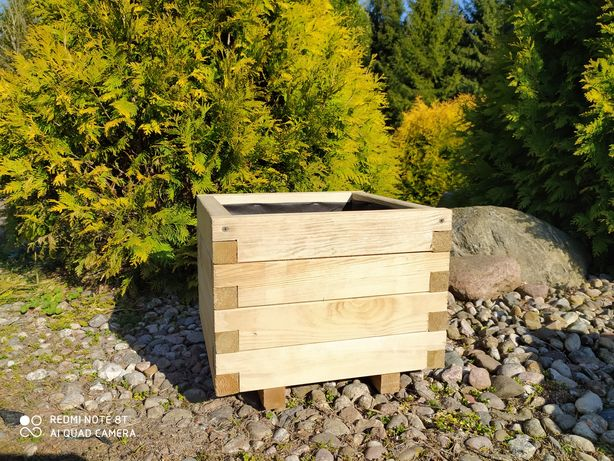 Donica drewniana skrzynia z drewna doniczka 40x40 50x50 60x60  HIT!!!