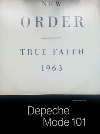Capa do Vinil New Order e livro do vinil Depeche Mode