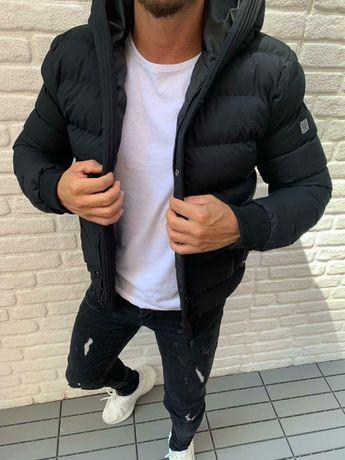 Зимняя куртка Мужская черная куртка на зиму Зимняя курточка черная
