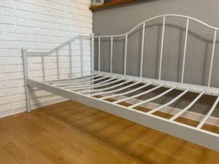 Rama łóżka biała