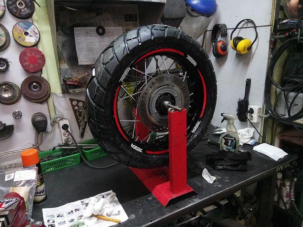 Спицовка мото колес перетяжка дисков рихтовка