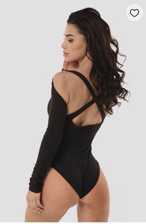 Боди черное с открытой спиной Katarina Ivanenko