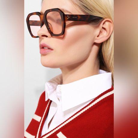 Celine Paris оригинал большие прозрачные солнцезащитные очки