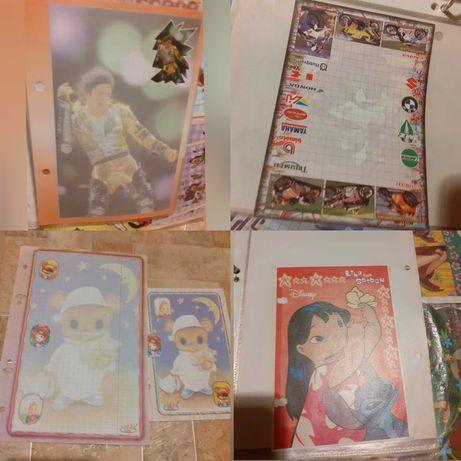 Karteczki do segregatora rózne, starsze kolekcje