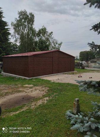 Garaż blaszany drewnopodobny blachodachowka 9x6 9x7 6x6 6x5 12x6 4x6