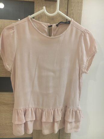 Bluzeczka koszulka Mohito 122/128 jasny róż idealna.