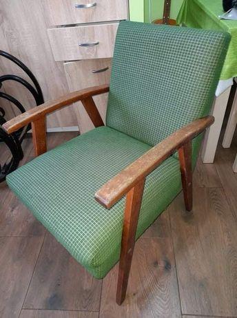 Fotel zielony PRL