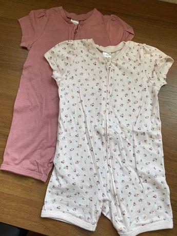 Пижамы песочники на девочку H&M