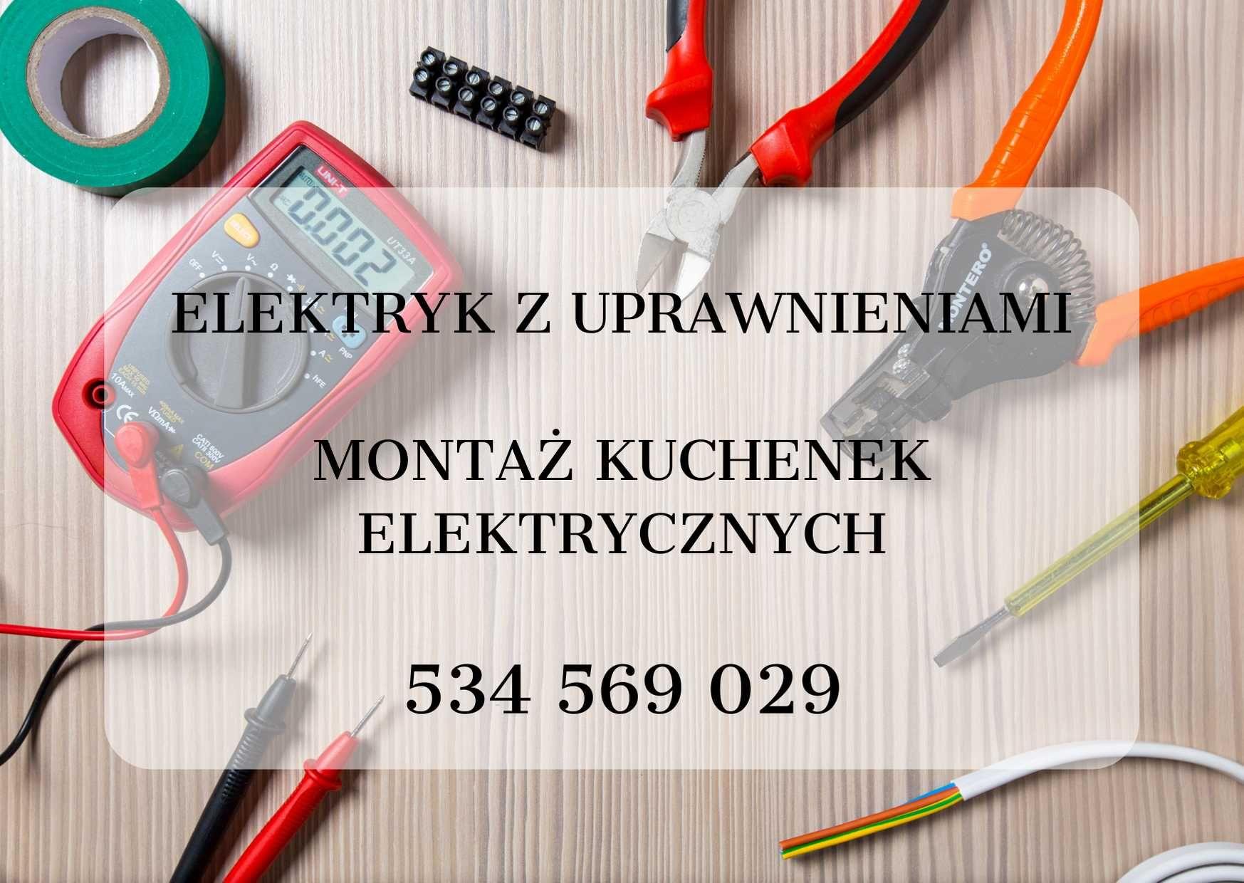 Elektryk -montaż instalacja kuchenek elektrycznych i płyt indukcyjnych
