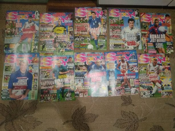 Czasopisma Bravo Sport 1997,1998,,00,02 piłka nożna