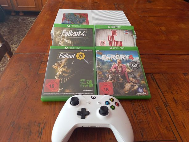 Xbox One S 1TB (pad,farcry 4, fallout, gwarancja)