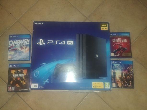 Sony Playstation 4 PRO Nowa + 4 gry