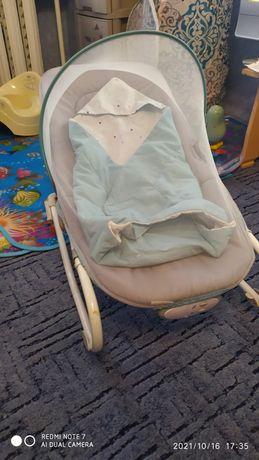 Шезлонг детский, с рождения до 15 кг