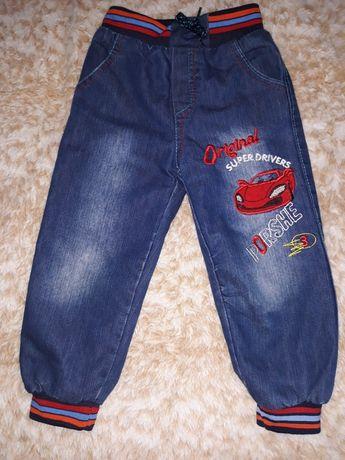 Детские тёплые джинсы махра